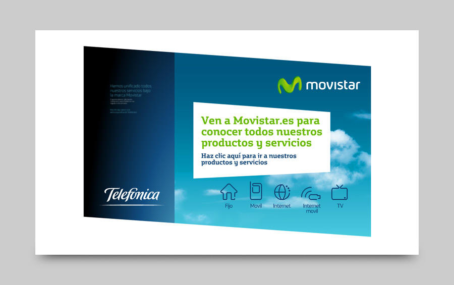 Landing page for Telefonica / Movistar
